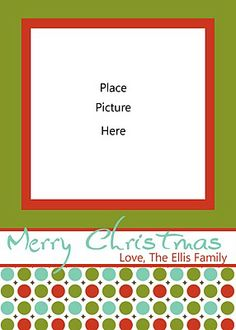 Christmas Card Templates Free Download Free Christmas Card - Card template free: photo insert christmas cards