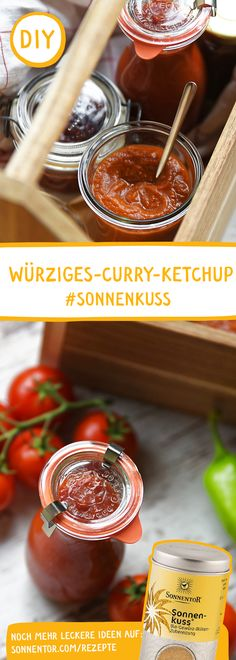 SELBSTGEMACHTES CURRY KETCHUP MIT SONNENKUSS: Mit diesem DIY Curry Ketchup bist du der Star auf der Grillparty. Curry Ketchup, Give Peas A Chance, Dips, Bbq, Honey, Star, Food, Vegetarian Grilling, Fried Cabbage Recipes