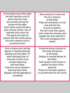 Hens night games