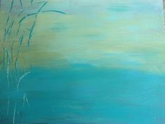 Serene Waters... an abstract painting by BlissStudio28 on Etsy