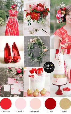 Aurora Red Autumn wedding color Palette