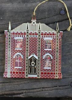 Bing & Grondahl VICTORIAN GOTHIC HOUSE Dollhouse Gold Plated Ornament