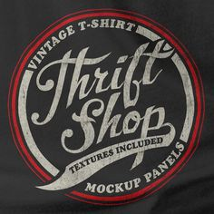 Thrift Shop for Photoshop - Make your T-Shirt Graphics Look like Real Vintage Designs