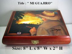 "Humidor Cigar box ""Robusto"" with beautiful Art woks  . Buy 1 Get Second 30% Off. Free Shipping"