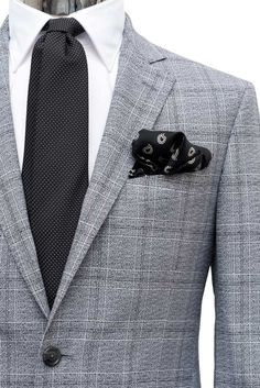 Prince of Wales Stretch Wool Suit #Suits - #MONTEZEMOLO www.montezemolostore.com