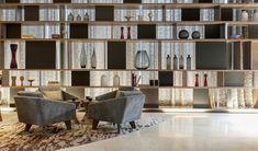 【New reminder】 addiction design: the eighth field of Shanghai Branch will be wood . Estilo Interior, Home Interior, Interior Design Living Room, Modern Interior, Interior Styling, Interior Architecture, Lounge Design, Shelf Design, Wall Design