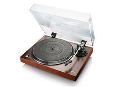 L90-white vintage wooden turntable
