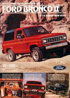 My first car - Ford Bronco II - only mine was 2-tone grey
