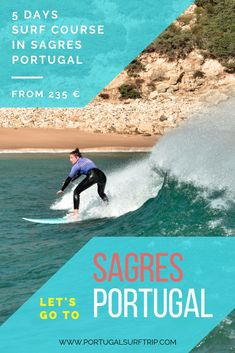 5 DAYS SURF COURSE IN SAGRES Learn how to surf in Portugal   what is included: 5 surf lessons with certified local instructors   full & quality surf equipment   beach transfer to the best surf spot #sagres #best #surfLesson #course #learn #howToSurf #in #portugal #algarve #enjoy #surf #holiday #with #portugalsurftrip #have #fun #surfing #waves #ocean Best Surfing Spots, Surf Trip, Yoga Retreat, Strand, Waves, Learning, Beach, Holiday, Ocean
