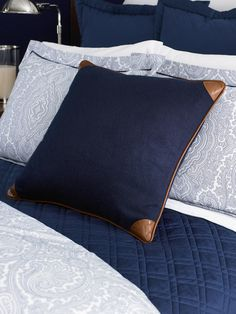 Leather Trim Cashmere Pillow - Throw Pillows   Home - RalphLauren.com