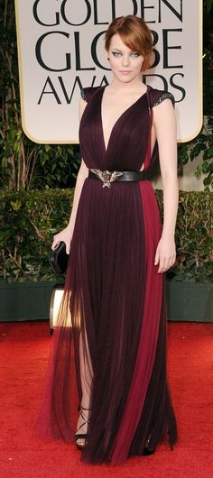 emma stone in lanvin @ golden globes.