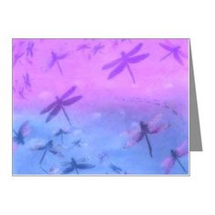 Bold Purple Dragonflies Note Cards (Pk of 10) on CafePress.com