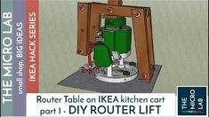 Ultra cheap plunge router table and lift bosch pof 1200 ae in this video i show you how to realize a different version of the router lift for my ikeahacked bekvm kitchen cart it is very easy and cheap to build keyboard keysfo Choice Image