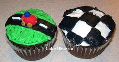 race car cupcakes
