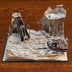 book sculpture | Madeofbooks | The mysterious book sculptures of Edinburgh
