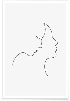 Hair Poster Hair as Premium Poster by Wuukasch Pencil Art Drawings, Easy Drawings, Drawing Sketches, Minimalist Drawing, Minimalist Art, Art Abstrait Ligne, Handpoked Tattoo, Abstract Line Art, Wire Art