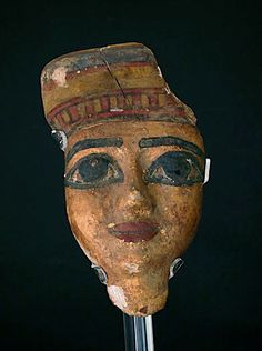 """Egyptian Wooden Funerary Mask - EM.001 Origin: Egypt Circa: 600 BC to 300 BC  Dimensions: 8"""" (20.3cm) high  Collection: Egyptian Art Medium: wood Condition: Extra Fine"""