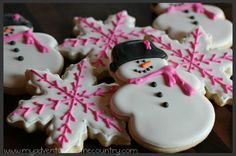Snowflake and Snowlady Cookies  - Delish.com
