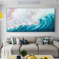 Sea Waves Modern Abstract original oil paintings on canvas blue painting seascape texture large wall art Wall Pictures caudros quadros decor Canvas Painting Landscape, Blue Painting, Seascape Paintings, Acrylic Painting Canvas, Oil Paintings, Living Room Pictures, Wall Art Pictures, Cheap Paintings, Original Paintings