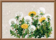 RIOLISクロスステッチ刺繍キット No.807 「Dandelions」 (タンポポ 蒲公英 たんぽぽ) ロシアの刺しゅうメーカー「リオリス」製ししゅうキット【楽天市場】