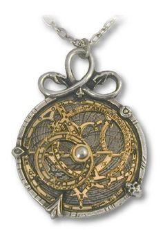 Anguistralobe Alchemy Gothic Astrolabe Pendant Necklace: Jewelry: Amazon.com