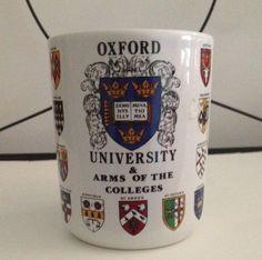 Oxford University College Shields Arms Mug Merton St. John's Queen's Trinity  #CotswoldChinaCompany