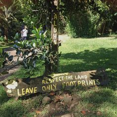 "Maui, Hawaii. A polite ""Littering Prohibited"" sign at Twin Falls."