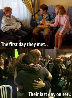 Harry Potter then and now:)