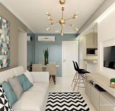 Cheap Home Decor Condo Living, Home Living Room, Apartment Living, Living Room Designs, Living Room Decor, Small Apartment Interior, Condo Interior, Home Interior Design, Condo Design