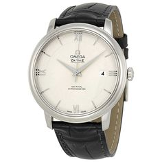 Omega De Ville Prestige Silver Dial Black Leather Men's Watch 424.13.40.20.02.001
