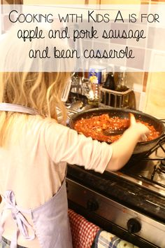 A warming sausage and bean casserole recipe - ideal to start introducing kids to cooking savoury meals and easy enough for an after work main meal.