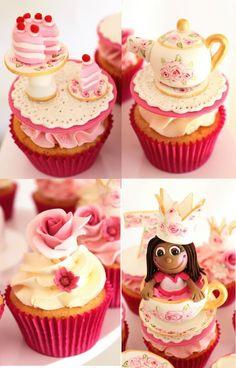 Tea Party Cupcakes!! <3
