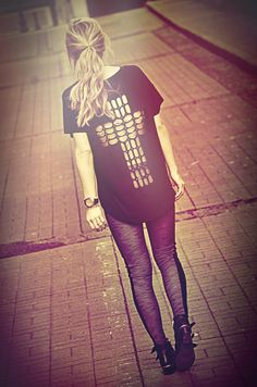 Cutout shirt. Love anything with crosses.