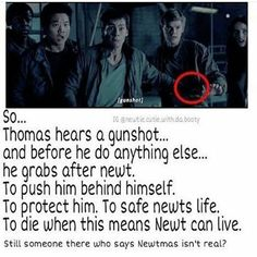 I don't ship newtmas. Chuck died for Thomas remember? Newt and Thomas are just friends 2 Maze Runner Trilogy, Maze Runner Cast, Maze Runner Thomas, Maze Runner Series, Maze Runner Funny, Maze Runner Movie, Movies And Series, Book Series, Newt Thomas