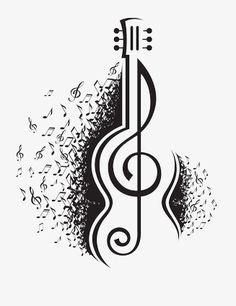 Imagens, fotos stock e vetores similares de Abstract vector alphabet - L made from music notes - alphabet set - 137480318 Guitar Drawing, Guitar Art, Guitar Tattoo, Music Drawings, Pencil Art Drawings, Music Notes Art, Guitar Stickers, Best Acoustic Guitar, Acoustic Guitars