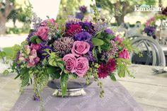 www.kamalion.com.mx - Decoración / Centros de Mesa / Morado / Purple / Vintage / Rustic Decor / Wedding / Bautizo / Centerpiece.