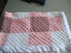 Free Diagonal Crochet Squares Baby Afghan Pattern