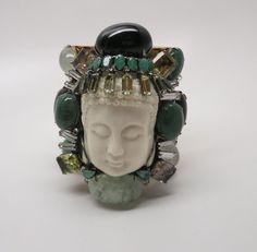 Extraordinary Iradj Moini Convertible Buddha Brooch Cuff Bracelet #IradjMoini #Cuff