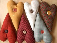 cute diy Christmas ornaments | use fabric from old clothes