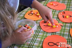 Halloween Activites: Candy Corn Counting - Mess for Less