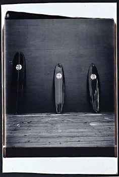 "Julian Schnabel  Blind Girl Surf Club, Montauk, 2002  B/W Polaroid  20"" x 24"""