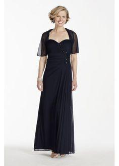 Long Sleeveless Chiffon Dress with Chiffon Shrug 56933D