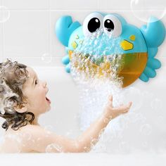Bathing Accessories Frugal Bathtub Bubble Frog Baby Bath Bubble Toy Musical Toy Bubble Maker Nursery Rhyme Quality First