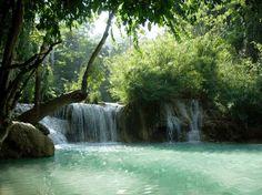 Kuoang si waterfalls, Laos. hd gif