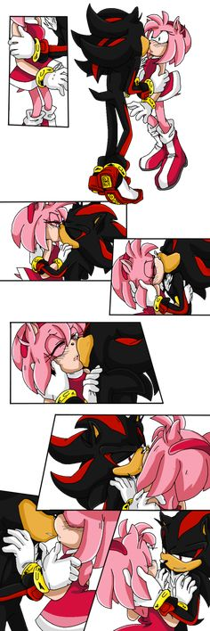 ShadAmy-First Kiss by Shyamiq on DeviantArt