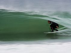 """""""Tom Curren speeding through the inside section at JBAY,"""" says Grant Ellis. """"Tom has to be one of the best out there. His smooth style and experience in point breaks always puts him in the perfect spot.""""Photo: Ellis"""