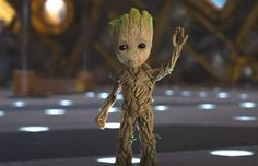 baby groot | look over at baby groot and he just waves innocently