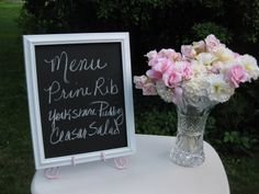 Chalkboard Wedding Signs Set of 4  / All by SouthburyTreasures, $65.00