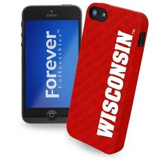 Forever Collectibles Wisconsin Badgers iPhone 5 Case ($9.99) ❤ liked on Polyvore featuring accessories, tech accessories and team color