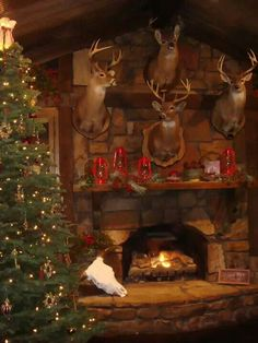 Deer Christmas Mantle